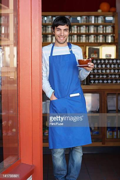 Waiter Standing in Doorway