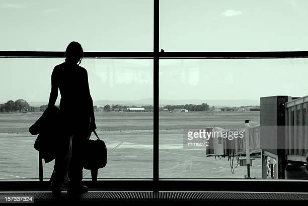 Warten am Flughafen