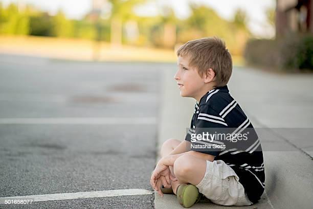 Waiting at the curb
