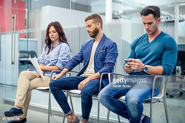 Attente pour entretien d'embauche