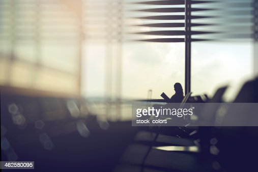 waiting for her flight