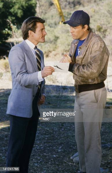 TEAM 'Waiting for Insane Wayne' Episode 17 Pictured Dirk Benedict as Templeton 'Faceman' Peck Dwight Schultz as 'Howling Mad' Murdock Photo by NBCU...