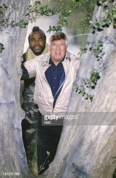 TEAM 'Waiting for Insane Wayne' Episode 17 Pictured Mr T as BA Baracus George Peppard as John 'Hannibal' Smith Photo by NBCU Photo Bank