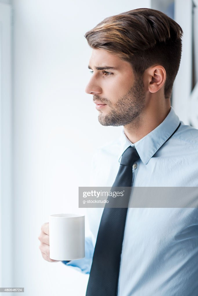 Waiting for inspiration. : Stock Photo