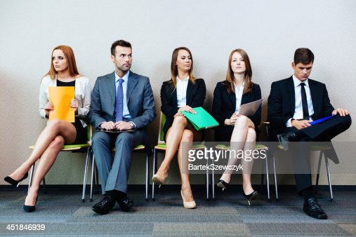 Waiting for interview : Stock Photo