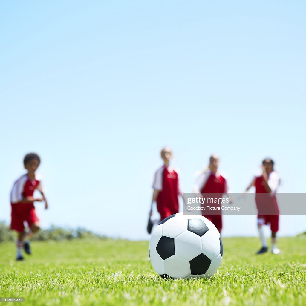 Waiting for kick-off : Stock Photo