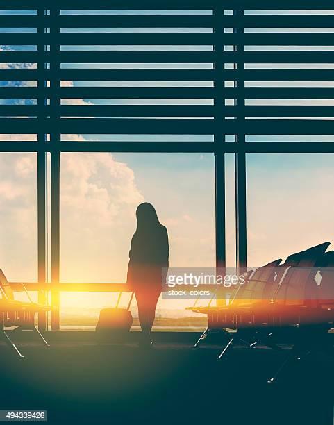 Esperar mi vuelo en el aeropuerto