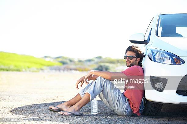 Waiting for roadside assistance