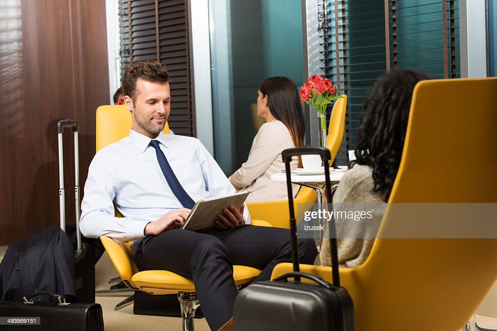 Waiting for the flight : Stock Photo