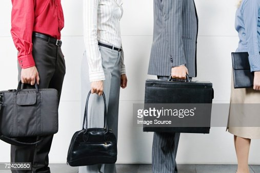 Waiting in a queue : Stock Photo