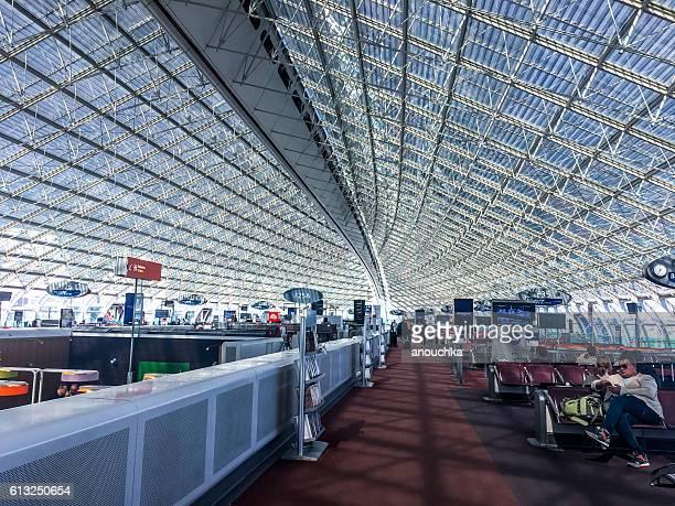 Waiting lounge and gates at Roissy airport, Paris