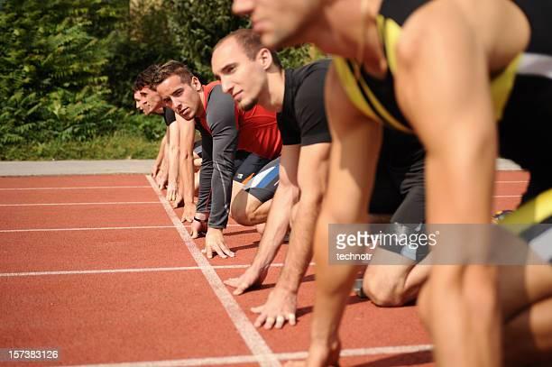 Warten auf der Startlinie