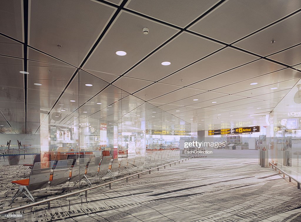 Waiting room and shopping area at Changi Airport : Stock Photo