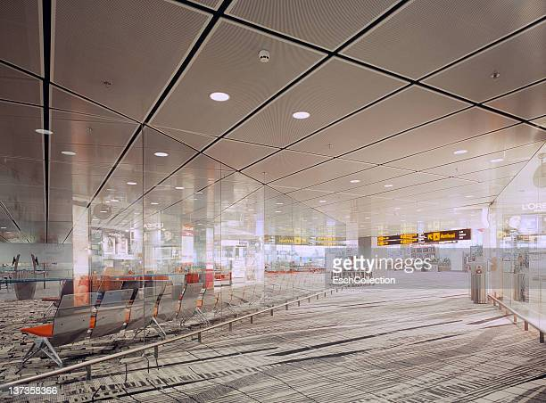 Waiting room and shopping area at Changi Airport