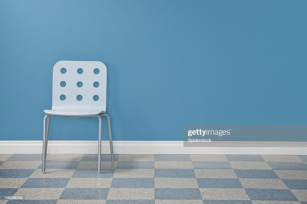 Waiting Room With One Chair : Stock Photo