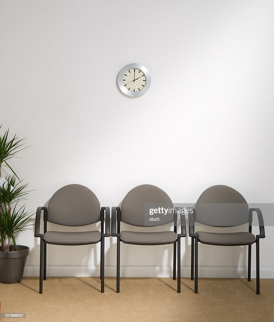 waiting room with three chairs