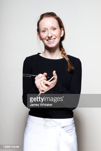 Waitress takes your order : Stock Photo