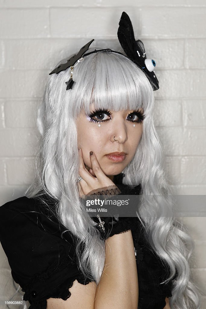 Wai-yi from Portsmouth in 'Gothic Lolita' fashion attends Hyper Japan at Earl's Court on November 24, 2012 in London, England. Hyper Japan is the UK's biggest Japanese culture event with many of the visitors dressing as cosplay, anime and manga characters.