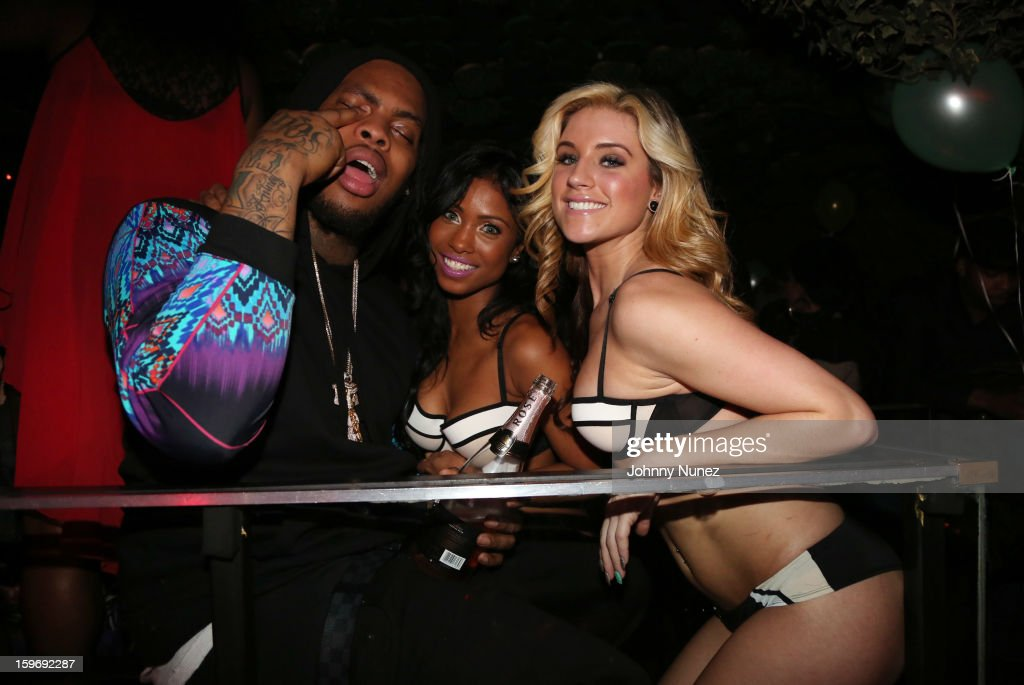 Waka Flocka Flame (L) attends Barry Mullineaux's Birthday Party at Greenhouse on January 17, 2013 in New York City.