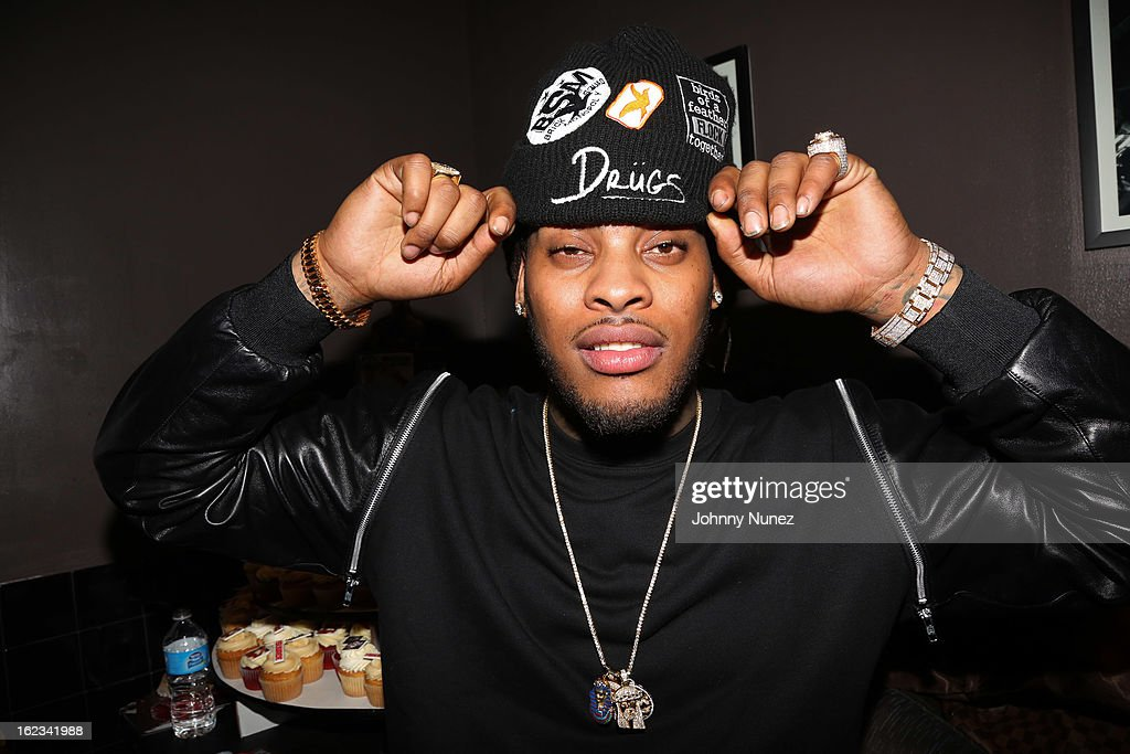 <a gi-track='captionPersonalityLinkClicked' href=/galleries/search?phrase=Waka+Flocka+Flame&family=editorial&specificpeople=6915851 ng-click='$event.stopPropagation()'>Waka Flocka Flame</a> backstage at his 'Thank You To Hip Hop' concert at BB King on February 21, 2013, in New York City.