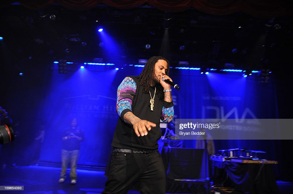 Waka Flocka Flame performs at VH1 Save The Music Foundation's Songwriters Music Series Remix featuring Swizz Beatz & Friends, presented by Monster DNA Headphones & William Hill Estate Winery at Hard Rock Cafe New York on January 17, 2013 in New York City.