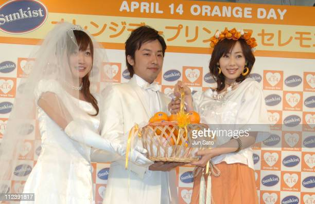 Waka Inoue and guests during Sunkist Holds 'Orange Day Princess' Tokyo Presscall at Marunouchi OAZO in Tokyo Japan