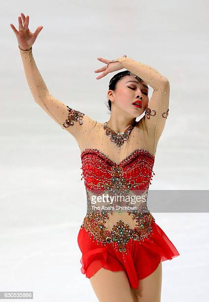 Wakaba Higuchi competes in the Women's Singles Free Skating during day four of the 85th All Japan Figure Skating Championships at Towa Yakuhin RACTAB...