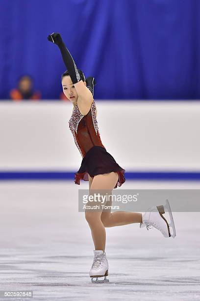 Wakaba Higuchi of Japan competes in the Ladies free skating during the day three of the 2015 Japan Figure Skating Championships at the Makomanai Ice...