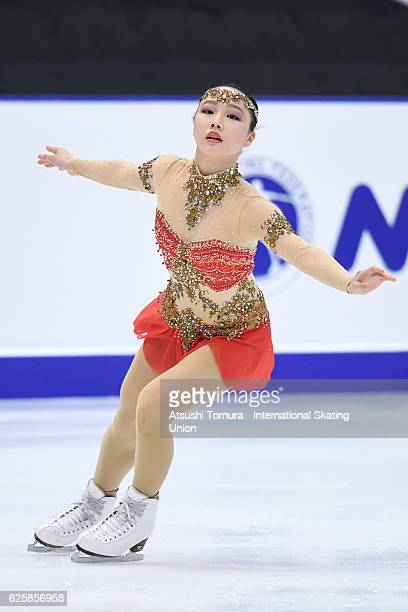 Wakaba Higuchi of Japan competes in the Ladies free skating during the ISU Grand Prix of Figure Skating NHK Trophy on November 26 2016 in Sapporo...