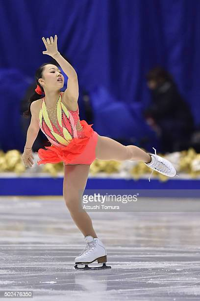 Wakaba Higuchi of Japan competes in the ladies short program during the day two of the 2015 Japan Figure Skating Championships at the Makomanai Ice...