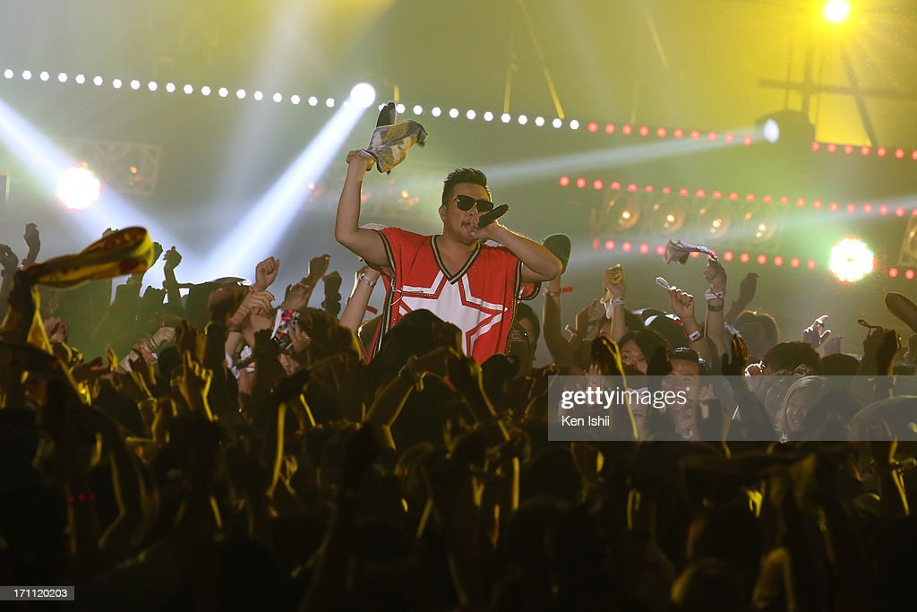 Wakadanna of Shonan No Kaze perfoms onstage during the MTV VMAJ 2013 at Makuhari Messe on June 22, 2013 in Chiba, Japan.