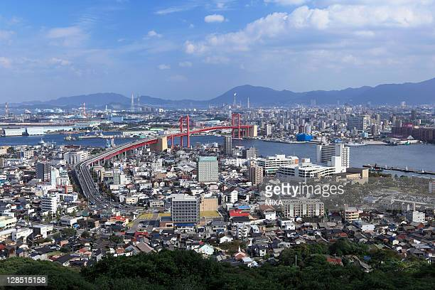 Wakato Bridge, Kitakyushu, Fukuoka, Japan