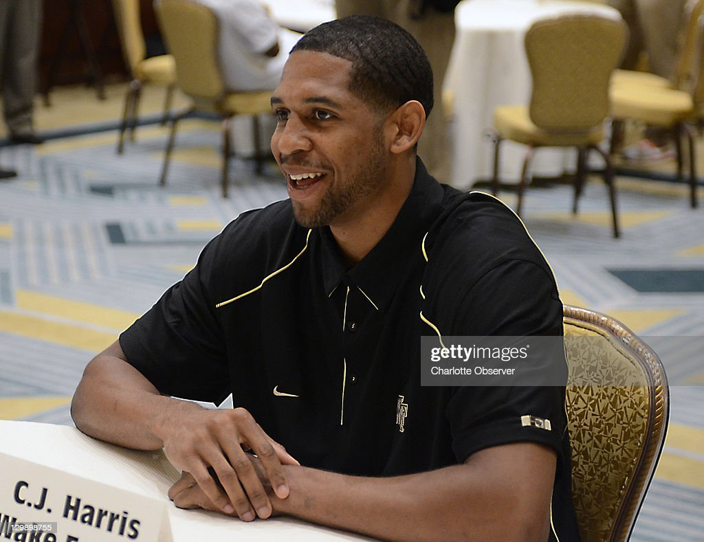 Wake Forest basketball player C.J. Harris talks with the media during an ACC Operation Basketball event at the Ritz-Carlton in Charlotte, North Carolina, Wednesday, October 19, 2011.