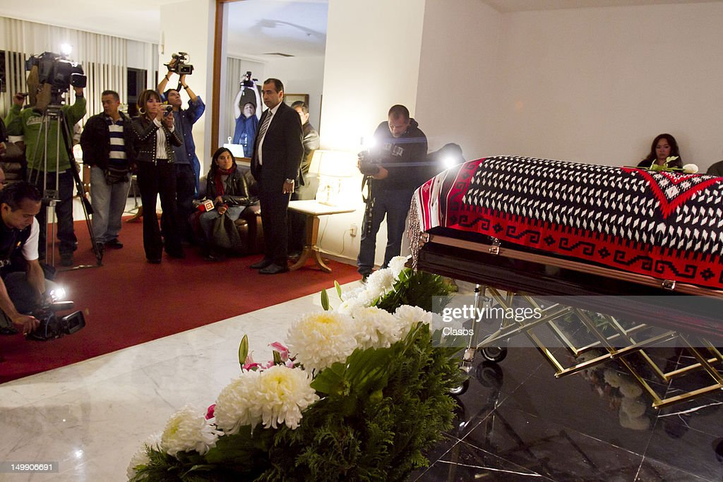 Wake of the Mexican singer Chavela Vargas in the Gayoso funeral home of Felix Cuevas, on August 05, 2012 in Mexico City, Mexico.
