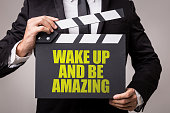 Wake Up and Be Amazing sign