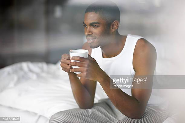 Waking up with a good cup of coffee