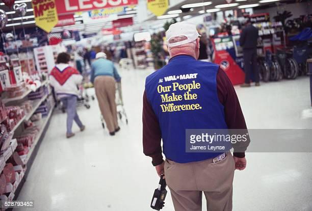 Wal Mart Employee Wearing Inspirational Slogan