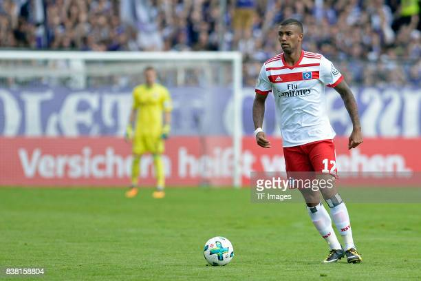 Walace of Hamburg controls the ball during the DFB Cup match between VfL Osnabrueck and Hamburger SV at Osnatel Arena on August 13 2017 in Osnabrueck...