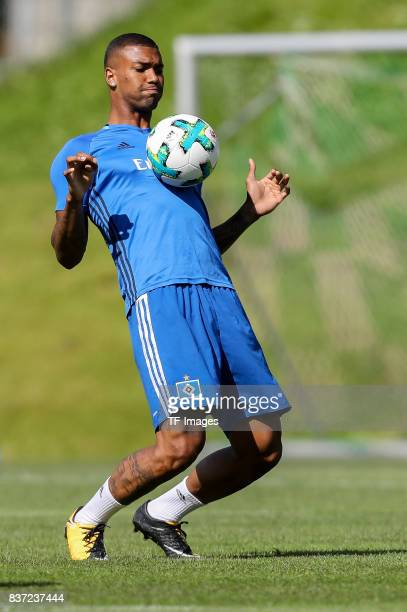 Walace of Hamburg controls the ball during the Training Camp of Hamburger SV on July 23 2017 in Laengenfeld Austria