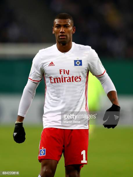 Walace of Hamburg looks on during the DFB Cup round of 16 match between Hamburger SV and 1 FC Koeln at Volksparkstadion on February 7 2017 in Hamburg...