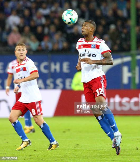 Walace Souza Silva of Hamburg in action during the Bundesliga match between Hamburger SV and RB Leipzig at Volksparkstadion on September 8 2017 in...