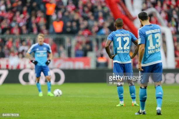 Walace Souza Silva of Hamburg Mergim Mavraj of Hamburg looks dejected during the Bundesliga match between Bayern Muenchen and Hamburger SV at Allianz...