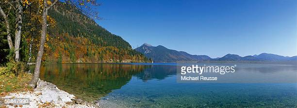 Walchensee, Upper Bavaria, Germany, view of lake in autumn