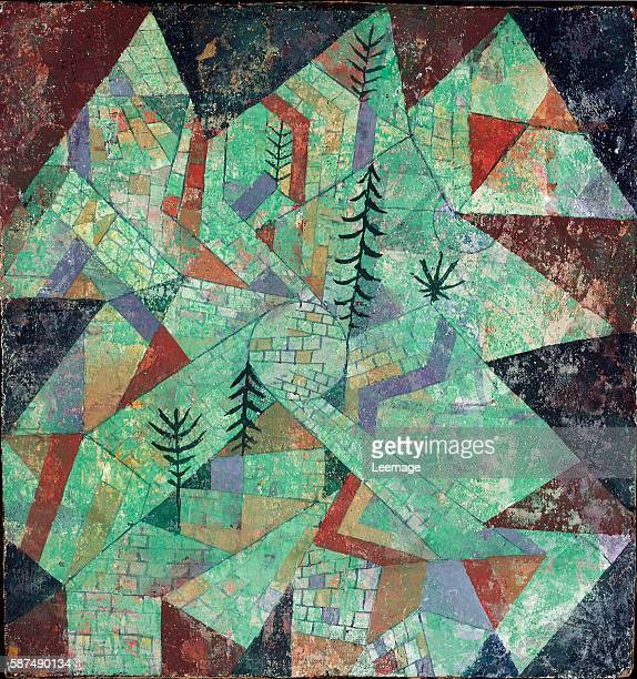Wald Bau by Paul Klee mixed media chalk 27x25 cm Museo del Novecento Milan Italy