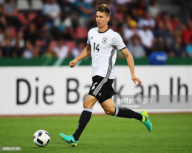 Waldemar Anton of Germany in action during the Under21 friendly match between U21 Germany and U21 Slovakia at Auestadion on September 2 2016 in...