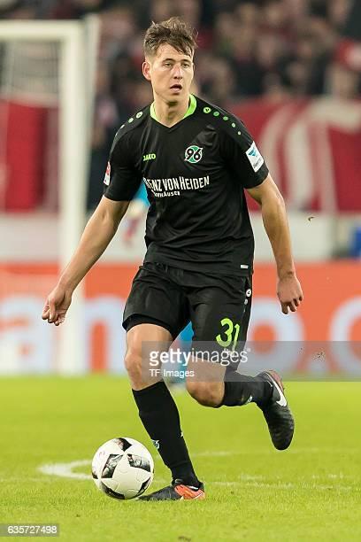 Waldemar Anton of Hannover in action during the Second Bundesliga match between VfB Stuttgart and Hannover 96 at MercedesBenz Arena on December 12...
