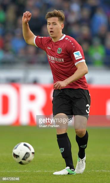 Waldemar Anton of Hannover in action during the Second Bundesliga match between Hannover 96 and 1 FC Nuernberg at HDIArena on April 4 2017 in Hanover...