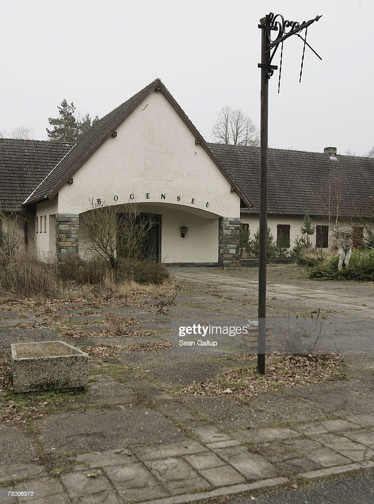 Waldhof am Bogensee, the former weekend house of Nazi propaganda minister and close Adolph Hitler associate Joseph Goebbels, stands at Bogensee Lake February 5, 2007 north of Berlin, Germany. The house sits on the estate of a former East German, communist-era political training school, and the city of Berlin, which owns the entire property, has begun the process of selling the estate, including Goebbels' former house. The house, which includes a movie theatre, a ballroom with windows that can disappear mechanically into the ground, and a nearby bunker, was built for Goebbels in 1939. Goebbels used the house frequently to entertain guests, including the Czech actress Lida Baarova, with whom he a had a passionate affair until Hitler had her expelled. City officials hope to finalize the sale of the property by 2008.