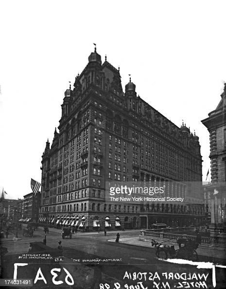 WaldorfAstoria Hotel New York New York June 1898