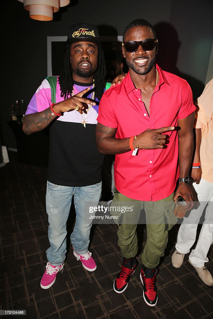 Wale and <a gi-track='captionPersonalityLinkClicked' href=/galleries/search?phrase=Lance+Gross&family=editorial&specificpeople=4083742 ng-click='$event.stopPropagation()'>Lance Gross</a> attend the Essence Day party at the W New Orleans on July 6, 2013 in New Orleans, Louisiana.